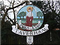 TG1614 : Taverham Village Sign by Ian Robertson