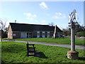 TM1899 : Bracon Ash & Hethel Village Hall, War Memorial and Sign by Ian Robertson