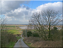 SE8822 : The Road down to Alkborough Flats by David Wright