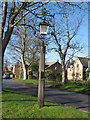 TL4349 : Village lamp from 1927, Newton, Cambs by Rodney Burton
