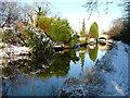 SJ6152 : Swanley Bridge up ahead on the Llangollen Canal - winter. by Martyn Richards
