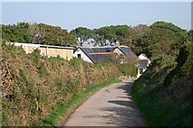 SW7852 : Farmhouse and Lane at Carnkief by Tony Atkin