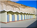TQ3602 : Beach Huts, Ovingdean Beach by Simon Carey