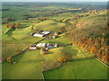 NY5452 : Albyfield Farm Near Cumrew, taken from my Paraglider by John Watson