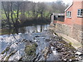 SO0889 : Ffrwd Mochdre oddi ar Bont Mochdre / Mochdre Brook from Mochdre Bridge by Ian Medcalf