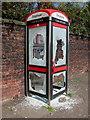 SD7509 : Vandalised Phone Box by Paul Anderson