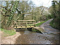 NZ9403 : Footbridge and ford at Mill Beck. by Gordon Hatton