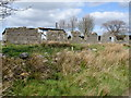 NS8076 : Righead Farm (derelict) near Castlecary High Wood by Raymond Okonski
