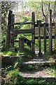 SX3467 : Stile on the footpath to Cadson Bury Fort by Tony Atkin