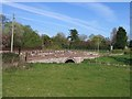 SJ4555 : Bridge over Coddington Brook by John S Turner