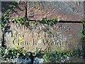 SJ4555 : Inscribed Stone at Coddington St Mary by John S Turner