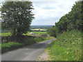 SJ8962 : Country lane near Rainow Hill, Cheshire/Staffs border by Pauline E
