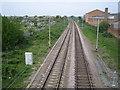 TQ3696 : Ponders End to Brimsdown railway line by Nigel Cox