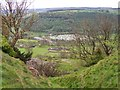 NZ1302 : East Applegarth and Swaledale Caravan Park from Whitcliff Scar by Joe Regan