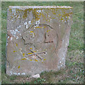 TF9742 : Weathered gravestone, St John the Baptist, Stiffkey by Pauline Eccles