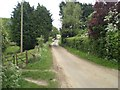 TF7938 : Lane towards Stanhoe through the middle of Station Farm by Nigel Jones