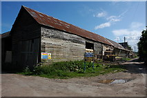 SO3656 : Barn undergoing conversion at Weston by Philip Halling