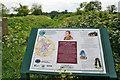 TF1506 : Information board on the Green Wheel near Glinton by Kate Jewell