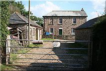 SX3388 : Werrington: farmhouse at Eggbeare by Martin Bodman