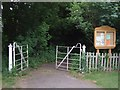 TF3671 : Gateway to the Church of St Mary, Harrington by Dave Hitchborne