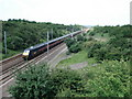 TL2179 : GNER train heading north on the East Coast Mainline by Simon Mortimer