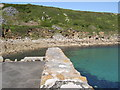 SW4524 : Turquoise sea at Lamorna by Val Pollard