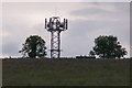 TL0653 : Phone mast near Cleat Hill by Dennis simpson