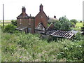 TG4003 : Ruined cottage at Limpenhoe Hill by Jonathan Billinger