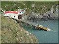 SM7225 : St. Justinian lifeboat station and slipway, Pembrokeshire by Robin Lucas