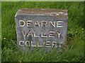 SE4205 : Dearne Valley Colliery marker stone by Steve  Fareham