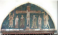 TG3818 : St Catherine, Ludham, Norfolk - Painting above chancel arch by John Salmon