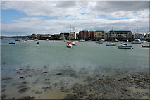 X2793 : Harbour and castle at Dungarvan by Philip Halling