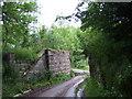 NJ5703 : Abutments of old railway bridge by Stanley Howe
