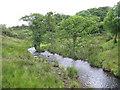 SH5767 : Afon Cegin upstream of Pont Felin by Eric Jones