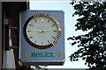 J3374 : Modern clock, Belfast by Albert Bridge