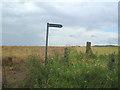 TL0067 : Bridleway signpost by Les Harvey