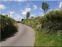 SX2894 : Lane to West Curry by Derek Harper