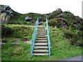 SD6913 : Steps in Horrocks Fold Quarries by Alexander P Kapp