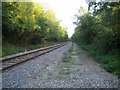SP6923 : Railway line near Calvert 2 by Andy Gryce