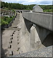 SH6737 : The outer face of the Maentwrog dam viewed from the observation platform by Eric Jones