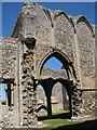 TF8539 : Ruins of the Abbey Church of St Mary, North Creake by Evelyn Simak