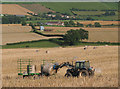 SO6523 : Rounding up the bales by Pauline Eccles