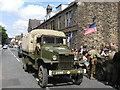 SD9905 : Yanks in the High Street Uppermill by Paul Anderson