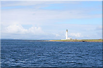 HY6715 : Auskerry Lighthouse by the South Taing. by Des Colhoun