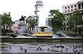 TQ3080 : One of the Fountains in Trafalgar Square, London. by P Flannagan