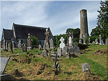 W3257 : St Bartholomew's Church and Round Tower at Kinneigh by Mike Searle