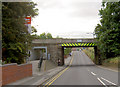 SE4505 : Railway bridge at Thurnscoe station. by Steve  Fareham