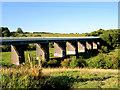 SE3806 : Disused railway viaduct. by Steve  Fareham