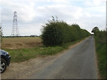 TM4196 : Electricity pylon and the cables crossing Green Lane by Helen Steed