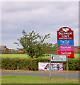 SE4210 : Burntwood Court signage. by Steve  Fareham